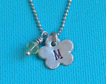Fine silver Initial necklace