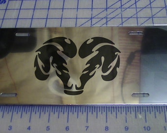 Ram license plate tag