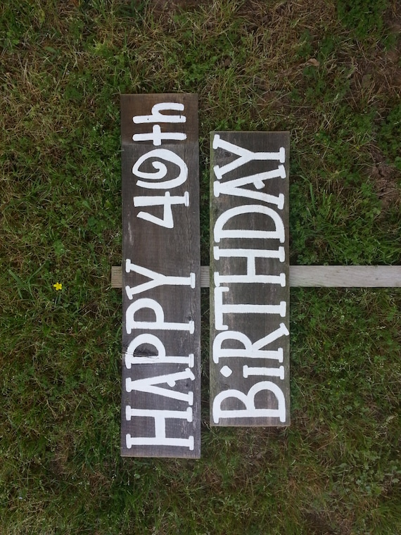 Decorations Sign Birthday Rustic Party Happy Yard 40th Signs