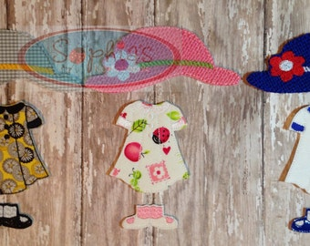 Dress Up Outfit for Felt Doll: Girl, Felt Dress Up Doll, Boy Dress Up Felt Doll, Girl Dress Up Doll, Felt Board Dolls,