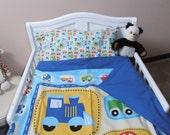 4 Piece Crib/Toddler Bedding Set - Duvet, Pillowcase, Comforter and Pillow Insert  with optional  2 Curtain Panels & Tie Backs