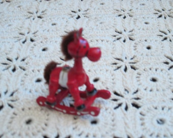 Miniature Wooden Christmas Rocking Horse