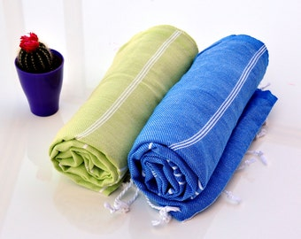 Fouta Towel Beach Cover Up Towel 2pcs Peshtemal By Peshtemalia