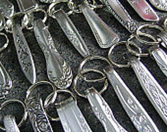 Wholesale Lot - 50 Stainless Steel Keychains, Wholesale Keychains, Stainless Keyrings, Keyrings, Keyfobs, Repurposed Accessories, NuForm