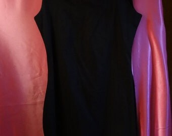 BETSEY JOHNSON LUXE S black pleated pinup rockabilly lbd cotton usa sundress dress 50's classic sexy retro mod vintage ruffles sleeveless
