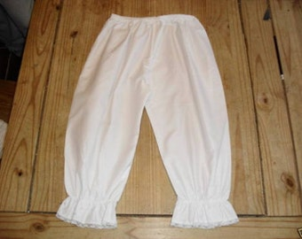 Victorian Bloomers white cotton victorian underwear costume