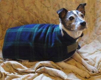 Fleece dog coat Blackwatch Tartan