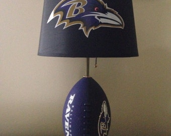 Baltimore Ravens football lamp