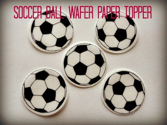 Soccer Ball Edible Sugar Decorations Custom 12 Soccer Ball Sports Precut Edible Image Cupcake Cookie Cake Design Inspiration
