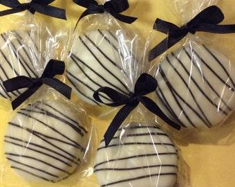 Black Party Favors White Party Favors Chocolate Oreos Party Favors Black Tie Party Favors Wedding Favors Zebra Print Favors