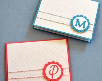 Embossed Monogrammed Note Card