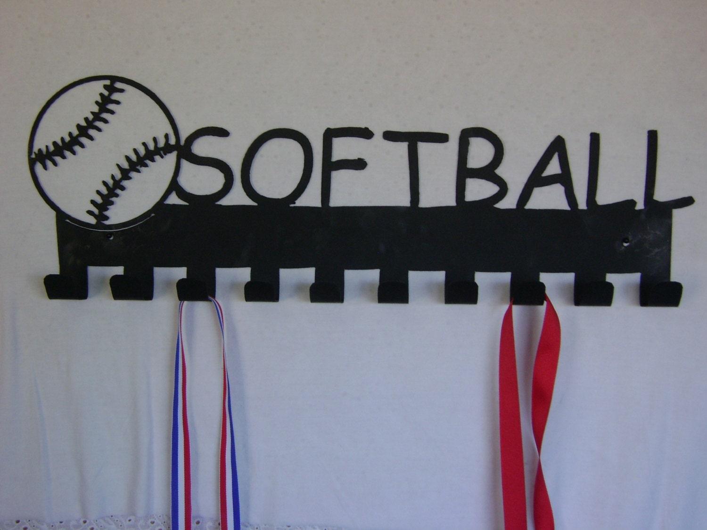 Softball Bedroom Softball Medal Display Hooks