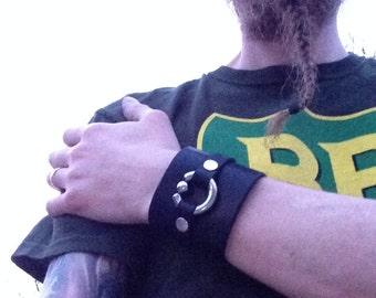 Leather Cuff Piercing Bracelet