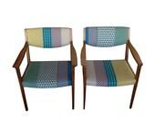 Two Vintage Gunlocke MCM Chairs