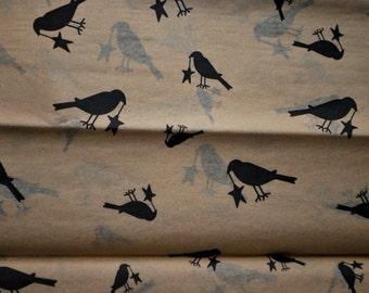 Black Crows & Stars on Kraft Tan Tissue Paper ..... 10 large Sheets ..... Primitive crafts