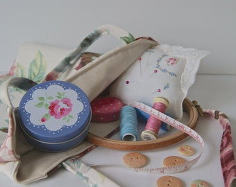 Floral sewing bag