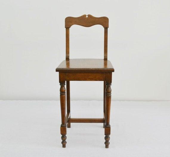 Vintage Telephone Desk Or Vanity Chair Solid Oak Wood