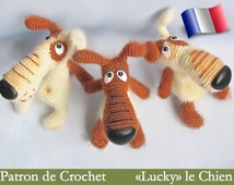 037e amigurumi crochet pattern. Lucky the dog. PDF file. By Borisenko Etsy