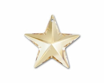 SWAROVSKI 6714 - Star Pendant - 20mm - Golden Shadow