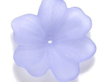 Lucite 30mm Flower - Violet - 1 piece
