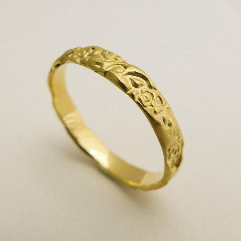 14 Karat Solid Gold Wedding Ring Womens Gold Wedding