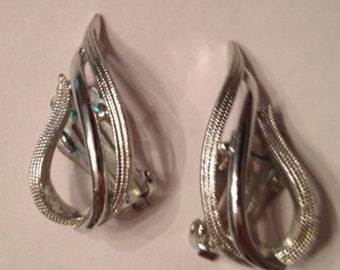 Vintage Sarah Coventry Silver Earrings Costume Jewelry