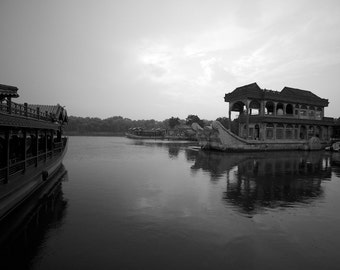 An artificial lake at the Summer Palace in Beijing, China