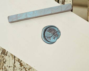 Pearl blue sealing wax bar
