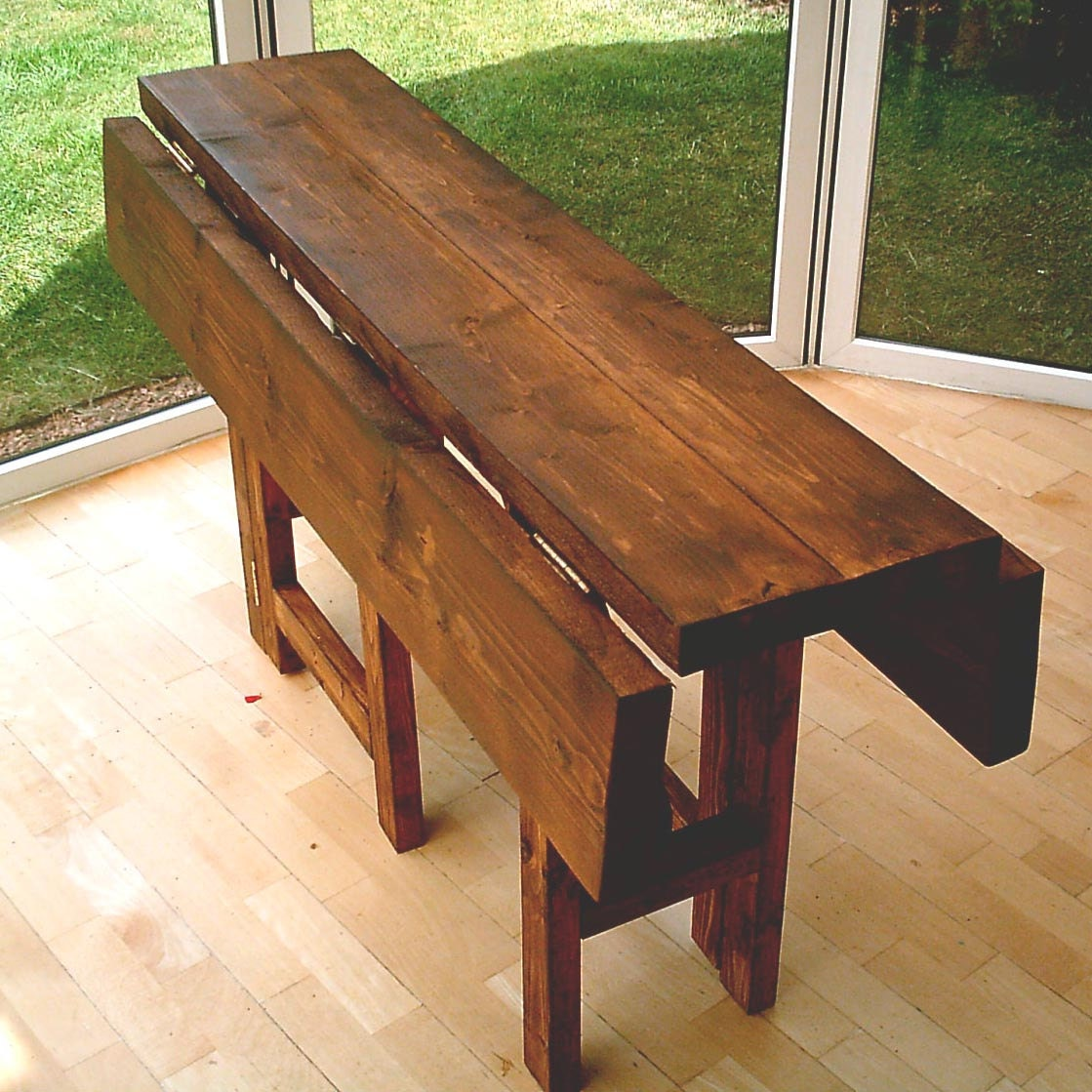New Hand Made Rustic Drop Leaf Kitchen Dining Table In Thick