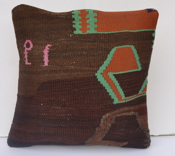 Modern Southwest Pillow : southwest decor floral pillow Decorative Kilim by omerfarukaksoy