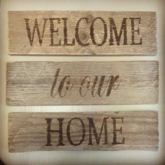 Welcome To Our Home: Rustic Welcome To Our Home Signs By MyCharmersMarket On Etsy
