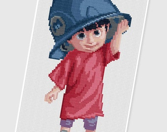 PDF Cross Stitch pattern - 0008.Boo (Monsters Inc) - INSTANT DOWNLOAD