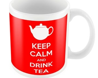 Keep Calm and Drink Tea Ceramic Mug Gift Birthday Present Novelty