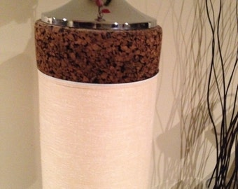 Salt Lamps Cork : Vintage cork lamp Etsy