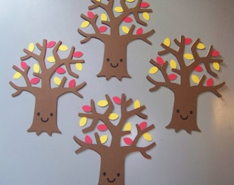 Autumn tree die cuts