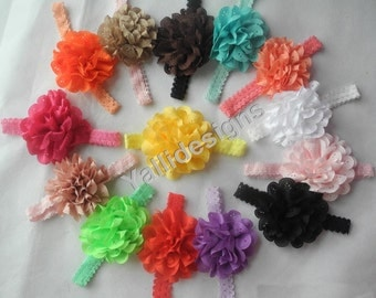 U Pick Wholesales Chiffon Headband Baby Headbands. Hollow Headband Newborns Headbands. Girl's Headband YTC06