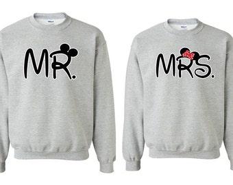 Mr. & Mrs. - Couple Crewneck - Sweatshirt