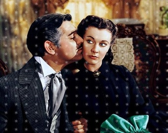 Clark Gable & Vivien Leigh Gone with the Wind Fabric Art Quilt Block GWTW21- FREE SHIPPING