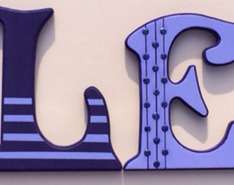 "6"" hand painted wall letters"