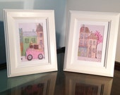 Set of 6 Greetings Cards featuring the work of Mixed Media Artist, Corinne Phillips