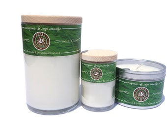 Terra Essential Scents - Sweetgrass and Sage Smudge Massage & Intention Candles
