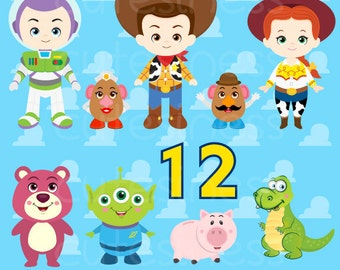 Little Toy Digital Clipart, Toy Clipart, Toy Clip Art, Cowboy Clipart, Toy Story Clipart, Cowgirl Clipart