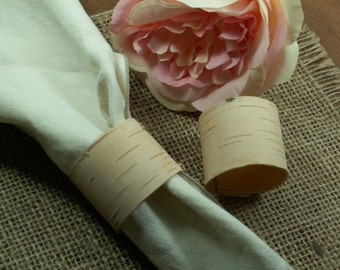 Set of 20 Napkin rings , Birch  napkin rings, Rustic napkin rings, Beach wedding