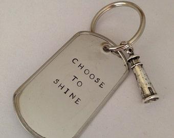 Choose to Shine Keychain