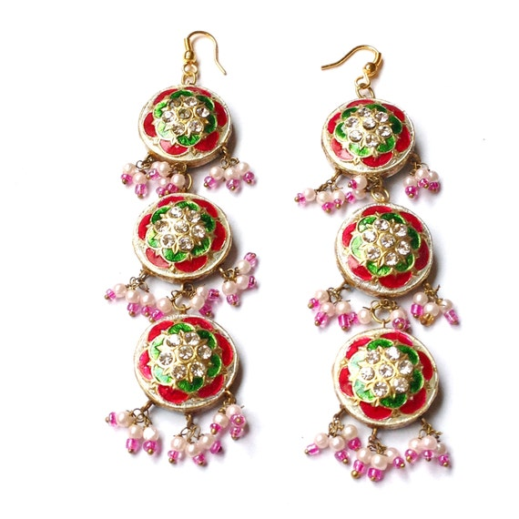Handcrafted Lakh Lac Jaipur Jhumka Chandelier By Iadornments