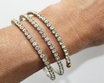 Rhinestone Wrap Bracelet, AS IS, JW147