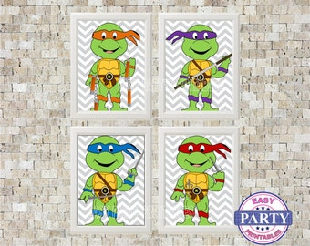 Wall Art, Instant Download, Teenage Mutant Ninja Turtles, green, Children's wall art, sale, printable art, 8x10, printable file, framable