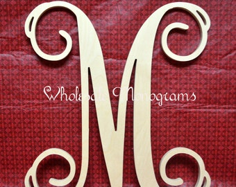 30 inch wooden monogram single letter unpainted wedding decor home decor