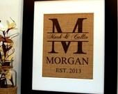 Custom Wedding Gift, Anniversary Gift, Engagement Gift and Housewarming Gift