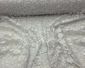 White-Flowers-Guipure-Lace-Embroider-Sold-By-The-Yard-36x45inches